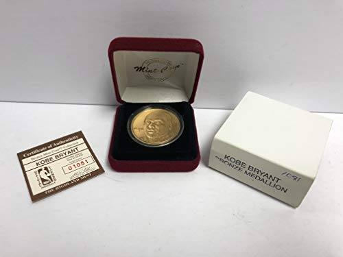 - Kobe Bryant Bronze Medallion Limited Edition Mint Coin Los Angeles Lakers from the Highland Mint and is serial numbered to 25,000