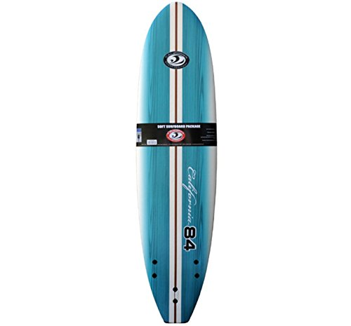 California Board Company 7'0 Soft Surfboard (Fins/Leash Included) by California Board Company