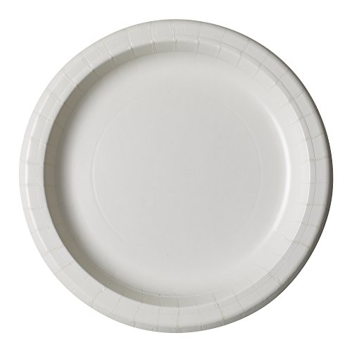 Dixie UX9W Medium Weight Paper Plate, 8.5'' Diameter, White (Case of 8 Packs, 125 Plates per Pack) by Georgia-Pacific