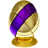 Metalised Egg 3x3x3 - Gold with Purple Stripe