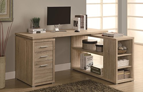 Monarch Reclaimed-Look Left or Right Facing Corner Desk, Natural