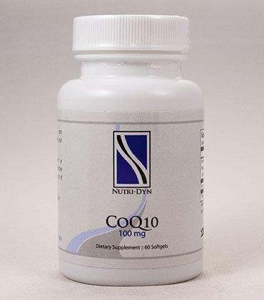 CoQ-10 100 mg Coenzyme Q10 60 Softgels, by Nutri-Dyn