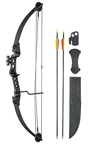 Leader Accessories Compound Bow 19-29lbs 24' - 26' Archery Hunting Equipment with Max Speed 129fps, Black