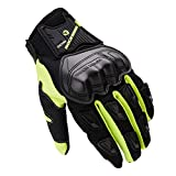 AINIYF Full Finger Motorcycle Gloves | Male Locomotive Tactical Gloves Riding Four Seasons Anti-skid Anti-skid Breathable Touch Screen (Color : Green, Size : XXL)