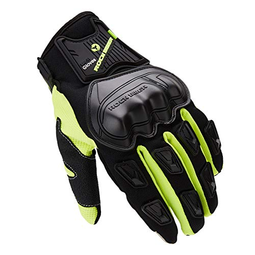 AINIYF Full Finger Motorcycle Gloves | Male Locomotive Tactical Gloves Riding Four Seasons Anti-skid Anti-skid Breathable Touch Screen (Color : Green, Size : XXL) by AINIYF (Image #4)