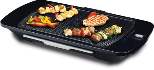 Emeril by T-fal CB653 Gourmet Griller with Removable Nonstick Die-Cast, Silver
