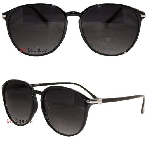 Black - Round Wayfarer Sunglasses Psy Gangnam Style FREE POUCH (Gangnam Style Sunglasses)