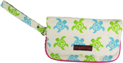 Bungalow360 Lana Vegan Wristlet - Comes in Butterfly, Lobster, Ladybug, Sea Turtle, Groovy Flower and Octopus! (Sea Turtle)