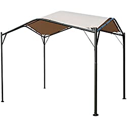 Kozyard Domingo 12'x12' Sun Shade Gazebo Canopy with UV Resistant Fabric and Strong Round Post