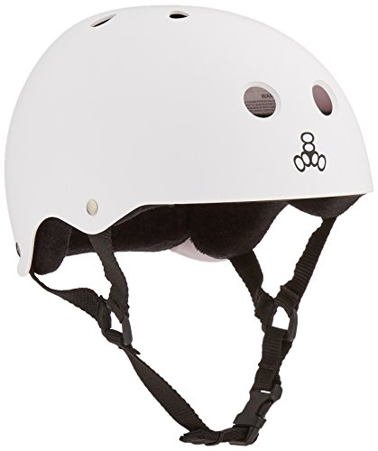Triple 8  Rubber Helmet with Sweatsaver Liner (Chaste Rubber, X-Large)