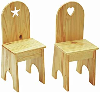 product image for Little Colorado Solid Back Chair, Solid White/Star