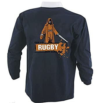 Hasta Le Rugby - Camiseta con texto «Que le Rugby Soit Avec Toi» -
