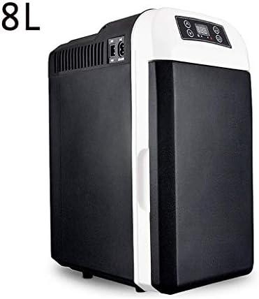 ポータブルコンプレッサー冷蔵庫冷凍庫ACまたはDC Powere車の冷蔵庫、キャンプポータブルトラベル冷蔵庫クーラーウォーマーヒーター多機能インテリジェント冷蔵庫ミニ冷蔵庫クーラーボックス8L 12v / 220