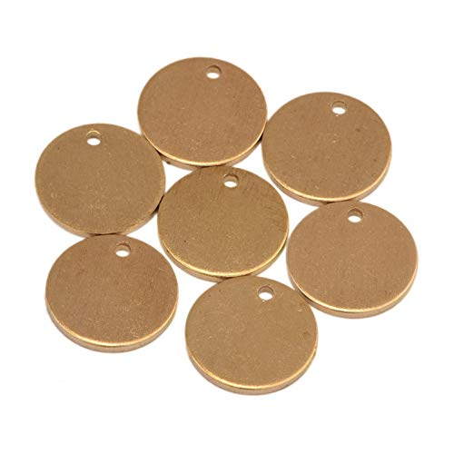 - Chris.W 50pcs Brass Round Copper Stamping Blanks 2/5
