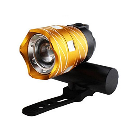 Ikevan USB Rechargeable XML T6 LED Bicycle Bike Light Front Cycling Light Head Lamp - Eclipse Sunglasses View To