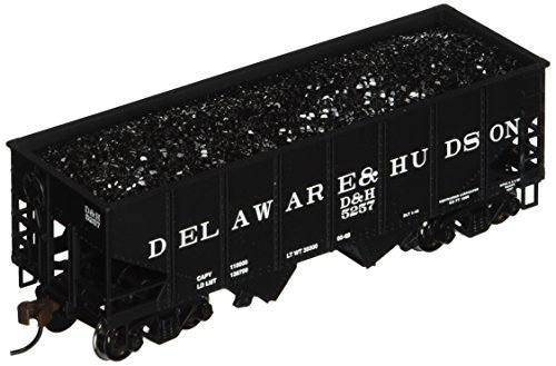 Bachmann Trains 55-Ton 2-Bay USRA Outside Braced Hopper with Removable Coal Load - Delaware and Hudson ()