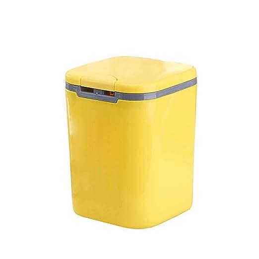 GWFVA Bote de Basura, Cubo de Mesa Mini Cubo de Basura de plástico ...