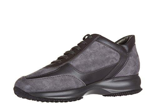 Hogan Zapatos Zapatillas de Deporte Mujer EN Ante Nuevo Interactive h Strass Gri
