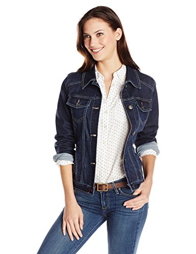 (Wrangler Authentics Women's Denim Jacket, Drenched, Large )