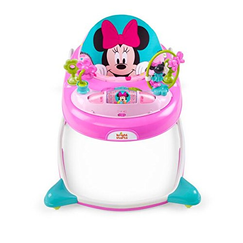 Kids II Disney Baby Minnie Mouse Peek-A-Boo Walker, Pink