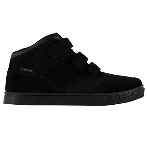 ccc9643e2066f3 Airwalk Kids Breaker Mid Boys Skate Shoes Touch and Close Flat Sole Fashion  Black UK C11 (29)