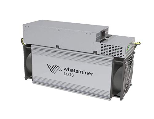 QIO TECH Bitcoin Miner Microbt Whatsminer M31S 74TH 3400W ASIC Miner Machine Include PSU Power Supply and Power Cords