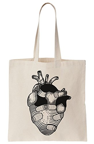 Artwork Heart Tote Canvas Bag Patched TqqZw5xv