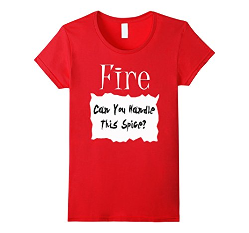 Simple Halloween Costume (Womens Fire Hot Sauce Packet Halloween Costume Taco T-shirt Medium Red)