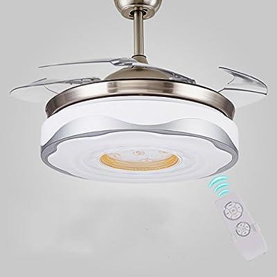 Ventiladores De Techo LED Invisible con Lámpara, Luces De ...