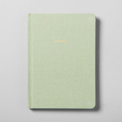 Fabric Covered Journal - Green - Hearth & Hand153; with Magnolia Green