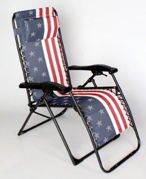 Bon American Flag Zero Gravity Lounge Chair