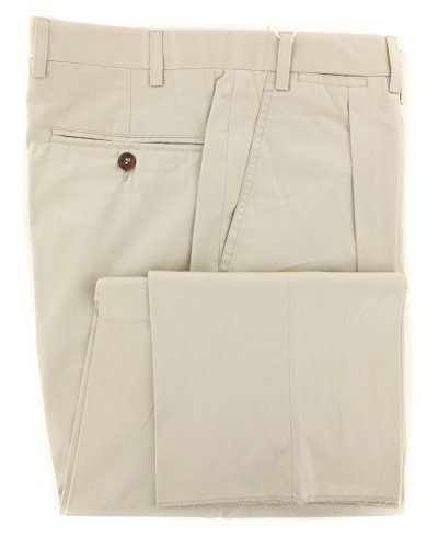 canali-beige-solid-pants-slim-30-46
