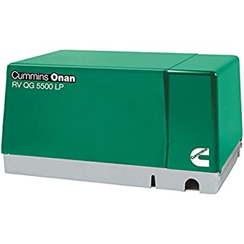 Cummins Onan 5.5HGJAB-1270 Rv Qg 5500 Lp – 5500 Watt 120V Single Phase 60Hz Fixed Mount Lp Generator Set Fo