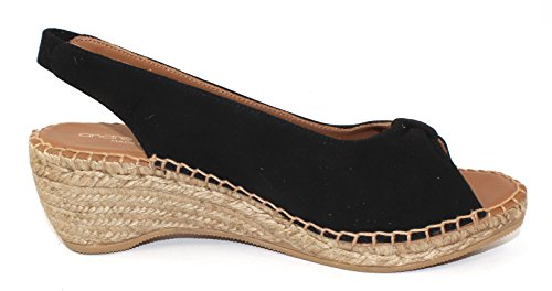 Andre Assous WomenS Lace in black suede - size 6 M P9eod