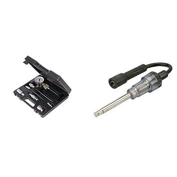 Silverline 598559 Petrol Engine Compression Test Kit y Silverline 633982 Comprobador de bujías 270 mm: Amazon.es: Coche y moto