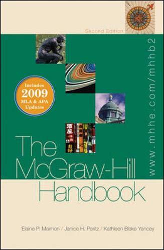 The McGraw-Hill Handbook (hardcover) - 2009 MLA & APA...