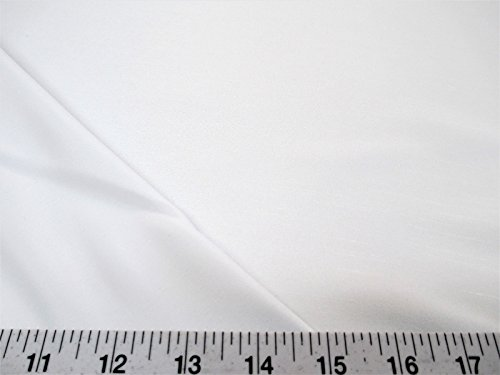 (Swatch Sample Discount Fabric Antique Satin White 3 Pass Blackout Curtain Drapery Lining DR13)