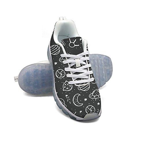 Lune Espace Planète Cosmos Faaerd Étoile 01 Hommes Mesh Respirant Grande Chaussures De Sport De Coussin Dair Chaussures De Course