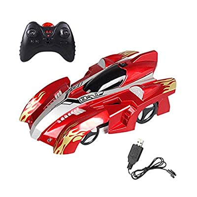 ocijf179 Wall Climbing Light Dual Modes Electric Vehicle Anti-Gravity Kids Stunt Car Toy,Perfect Training Children's Intelligence Gifts Red: Home & Kitchen