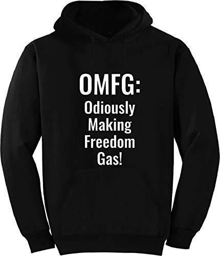 BuffThreads OMFG: Odiously Making Freedom Gas! Hoodie Black ()
