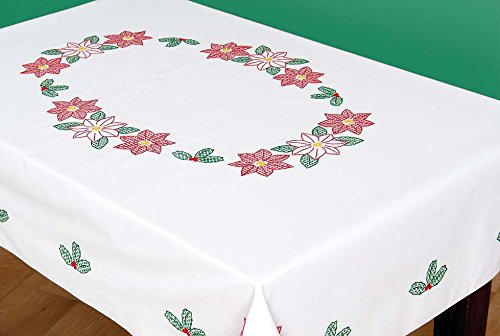 Stamped Cross Stitch Tablecloth - 3
