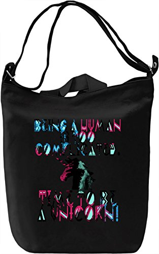 Being A Human Is Too Complicated Borsa Giornaliera Canvas Canvas Day Bag  100% Premium Cotton Canvas  DTG Printing 