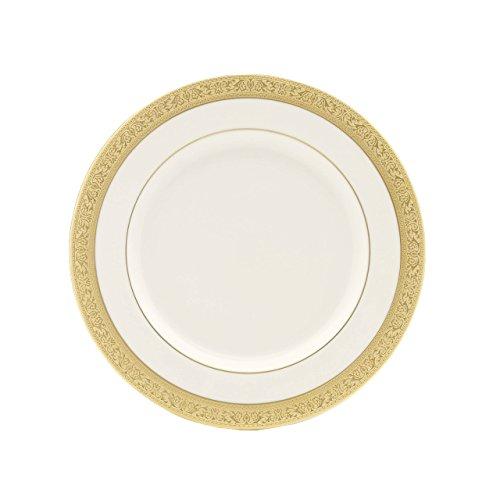 Plate Salad Ivory Banded China - Lenox Westchester Gold Banded Ivory China Salad Plate