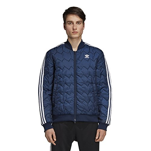 adidas Originals Men's SST Quilted Jacket, Collegiate Navy, XSTP