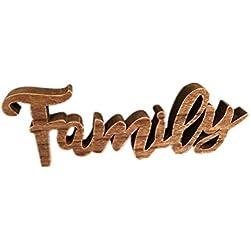 Paris Loft Family Cutout Wood Sign, Rustic Farmhouse Family Freestanding Table Top Decor