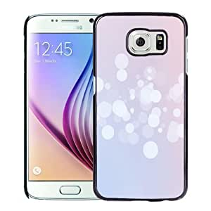 NEW Unique Custom Designed Samsung Galaxy S6 Phone Case With Simple Pink Bokeh Circles_Black Phone Case