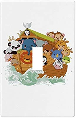 Noahs Ark Wallplate Decorative Switch Plate Cover 1 Gang Single Toggle Amazon Com
