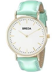 Breda Womens 1678C Analog Display Quartz Green Watch