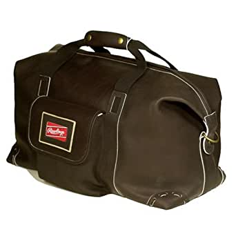 Amazon Com Rawlings Leather 22 Quot Duffel Black Luggage