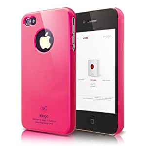 elago S4 Slim Fit Case for iPhone 4/4S - Hot Pink + Logo Protection Film included